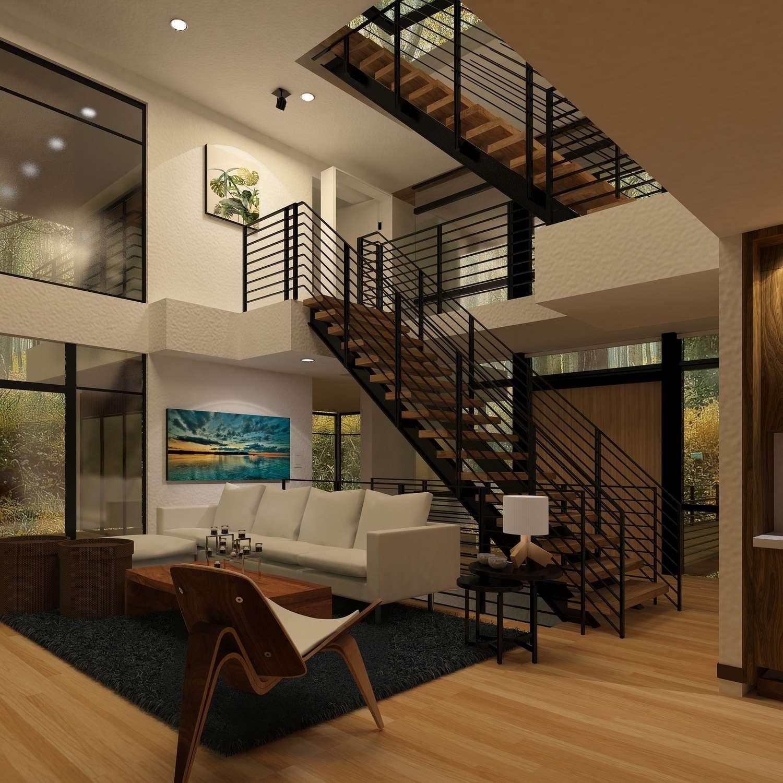 maison avec un escalier sans contre marche