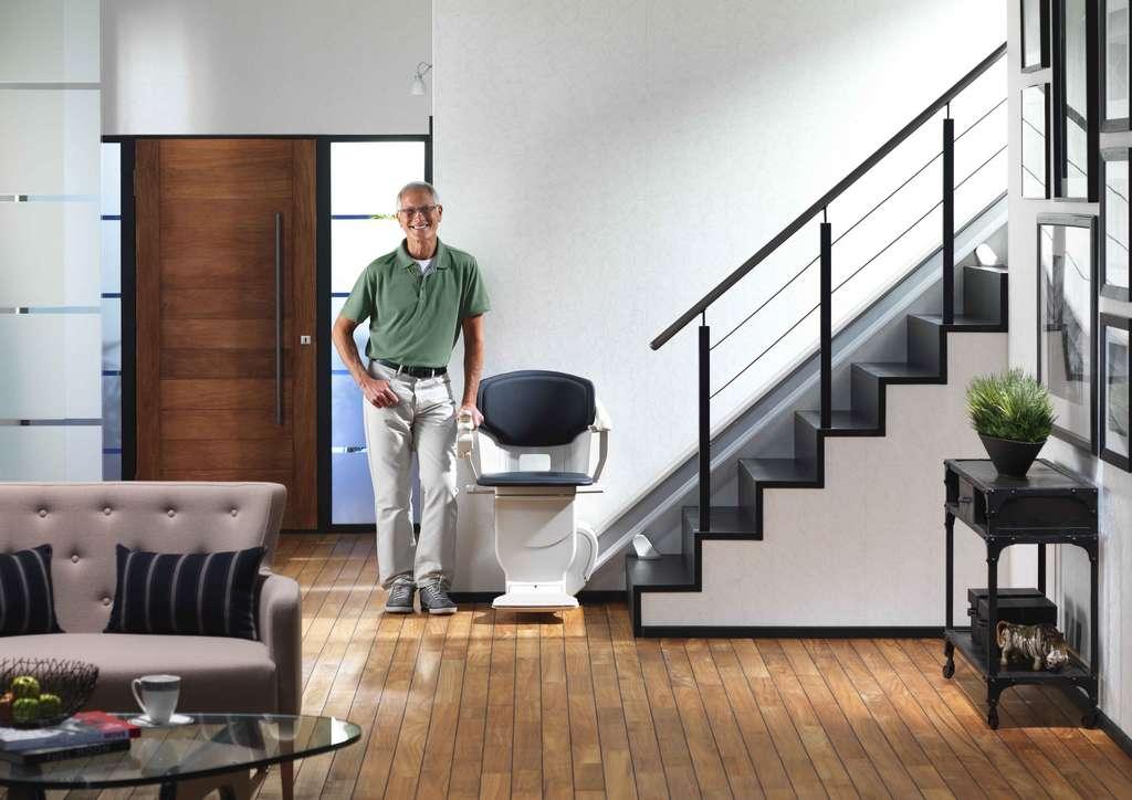 monte escalier moderne