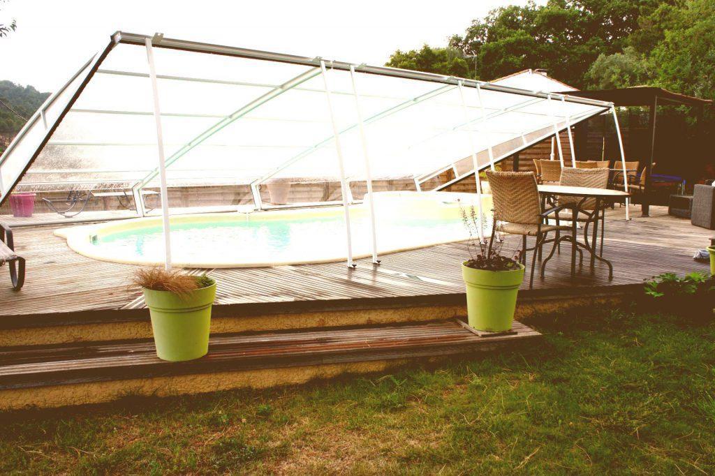 abri de piscine relevable