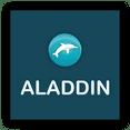 logo abri piscine aladdin concept