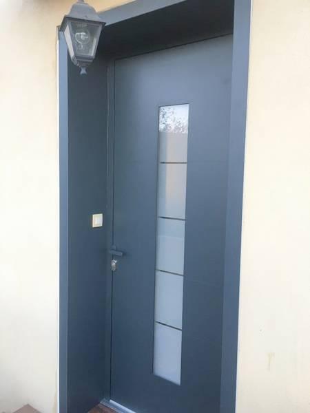 porte grise anthracite